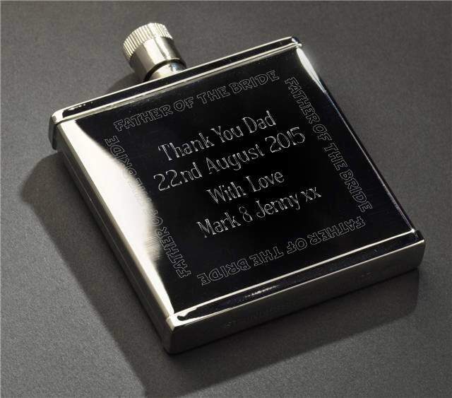 Wedding Party Stainless Steel 2oz Hipflask