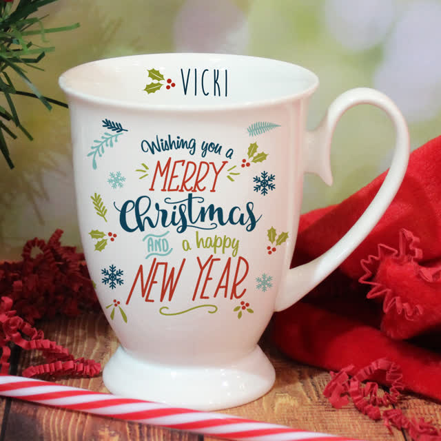 Wishing You A Merry Christmas Marquee Mug