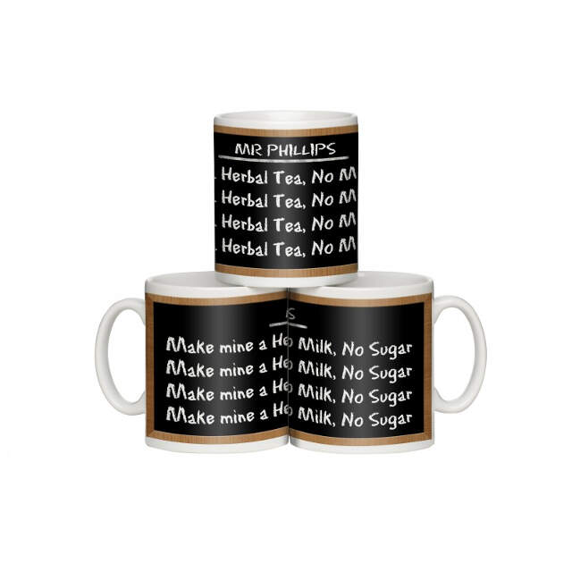"""Writing Lines"" Personalised Mug"