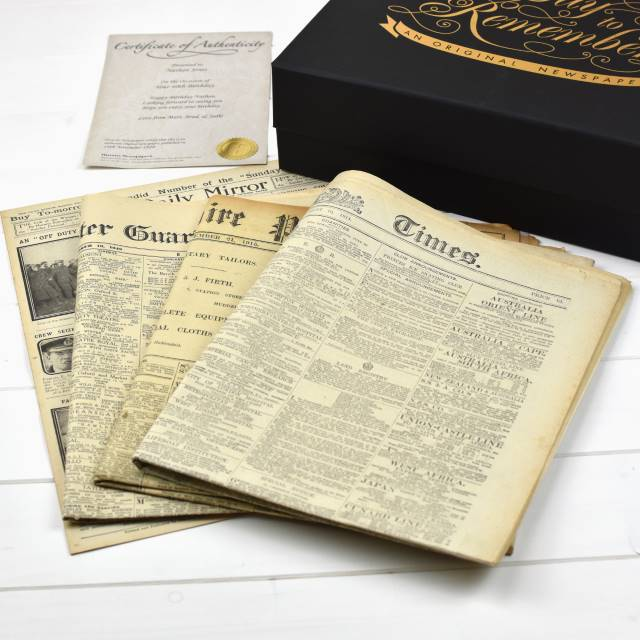 Original Newspaper in a Luxury Keepsake Case