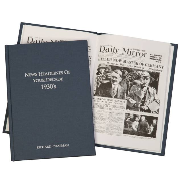 Newspaper 1930s Decade book - Hardback
