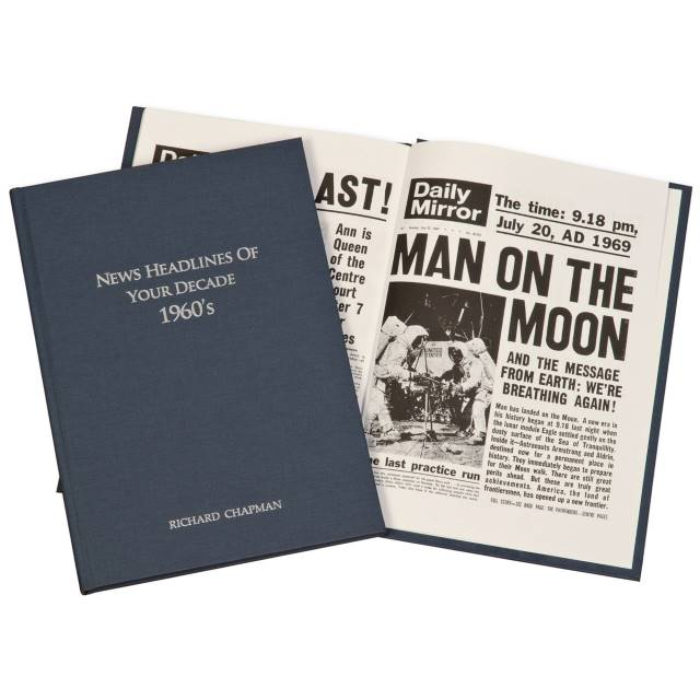 Newspaper 1960s Decade book - Hardback